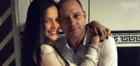 Volnei e a filha Emilly, antes do programa Big Brother Brasil 17 (Foto: Reprodução)