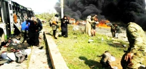 Ataque terrorista deixa feridos na Síria