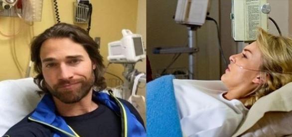 Casal sofre acidente durante gravação