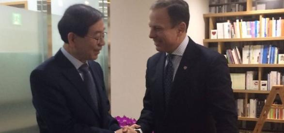 Doria tenta trazer investidores coreanos para São Paulo