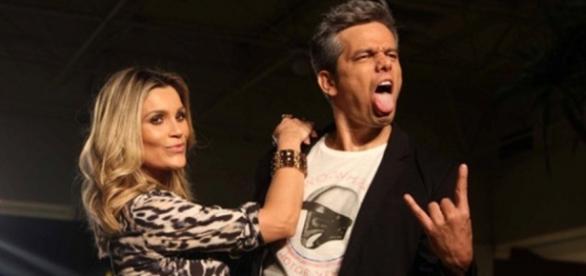Flavia Alessandra e seu marido o apresentador Otaviano Costa