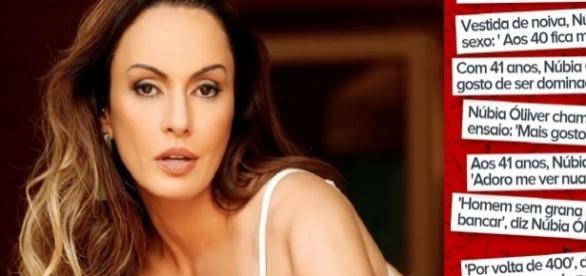 Núbia Oliver admite tratamento para tratar de compulsão sexual