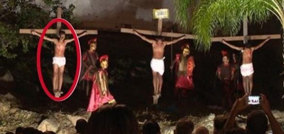 Público demorou para entender o que estava acontecendo. (foto: reprodução TV Globo)