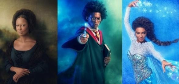 Projeto Identidade mostra ícones da cultura pop em versão negra. Fotografias: Reprodução/Studio Faya.