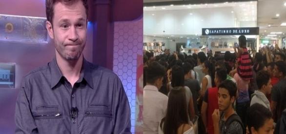 Apresentador Tiago Leifert comentou vídeo da ex-BBB