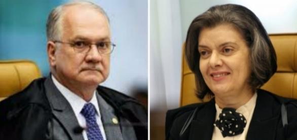 Ministros Edson Fachin e Cármen Lúcia