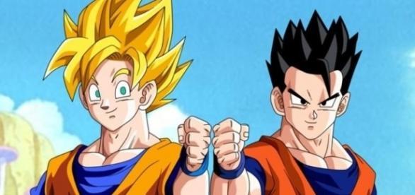 padre e hijo preparados para un nuevo combate