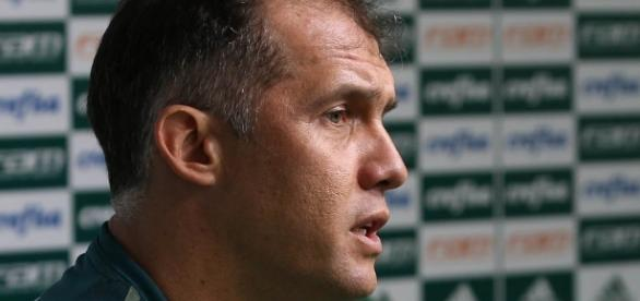 Eduardo Baptista, treinador do Palmeiras, em coletiva.