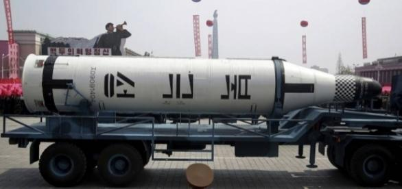 North Korea shows off suspected ICBM during massive military ... - japantimes.co.jp