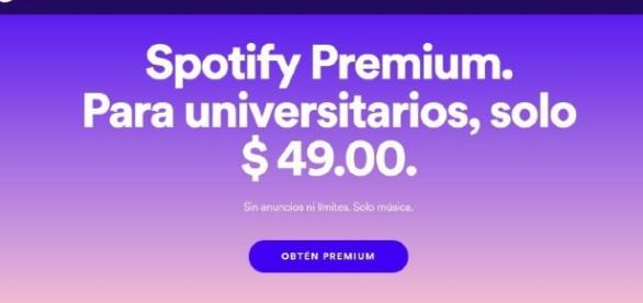 Spotify Premium para estudiantes se ofrecerá por 49 pesos por mes