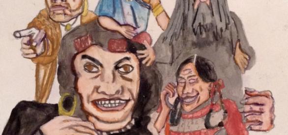 Acuarela aludiendo a la Hija de Moctezuma