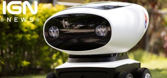Domino's Pizza in Australia has a robot that delivers pizza./Photo via IGN News, YouTube