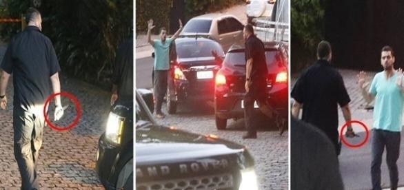 Segurança de Justin Bieber furou pneu do carro do motorista do Uber.