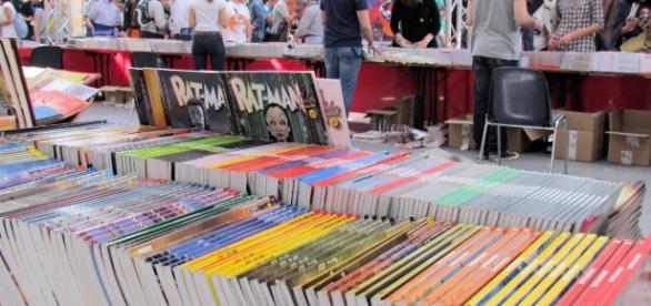Immagine di uno stand di una delle scorse edizioni del Napoli Comicon