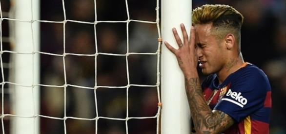 Neymar não teve sucesso nesta quarta