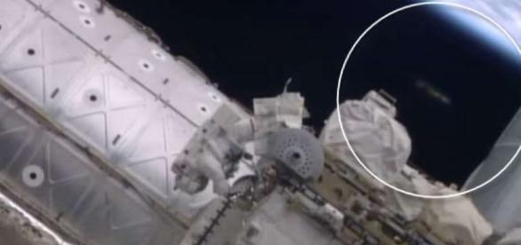 UFO' appears to watch NASA astronauts on ISS spacewalk - Houston ... - chron.com