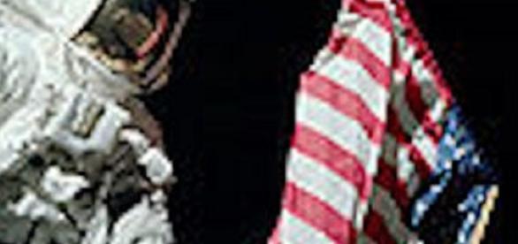 American astronaut on the moon (NASA)
