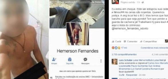 Foi no seu Facebook que Luisa Mell denunciou o zoófilo