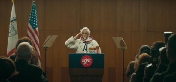 KFC just revealed a new Colonel Sanders to launch the new chicken sandwich to space. Photo courtesy of Blasting News Library.