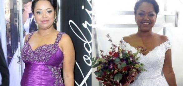 Noiva usou dois vestidos diferentes na festa
