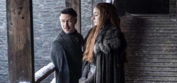 Sansa Stark et LittleFinger dans la saison 7 de Game Of Thrones