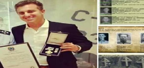 Luciano Huck recebe Medalha de Honra ao Mérito do Exército brasileiro