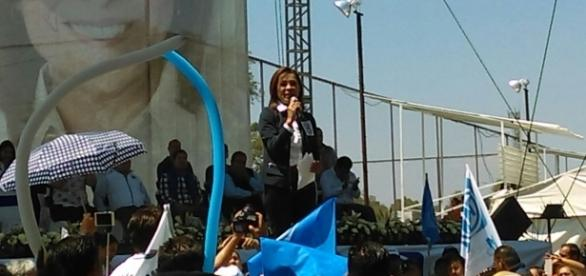 Previo a su discurso, participó en una carrera atlética para fomentar la actividad física y el deporte (Foto: Daniel Díaz Mayorga)