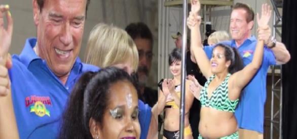 Arnold se emociona com brasileira cega