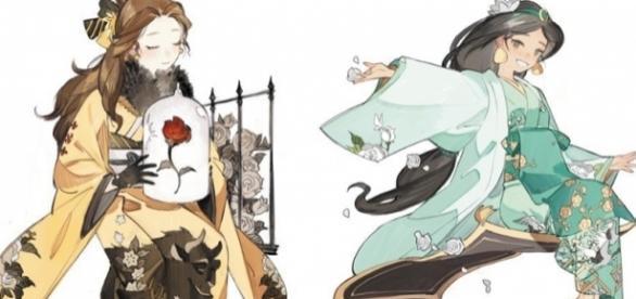 Ilustrador cria lindas versões japonesas das princesas Disney (Foto: Reprodução/Twitter)