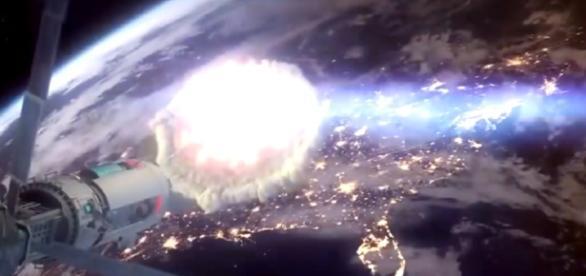 A bomba nuclear precisa explodir a apenas 450 km da Terra para que o ataque seja eficaz