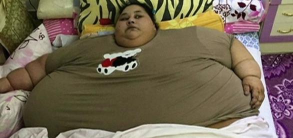 A mulhr masi gorda do mundo, Eman Abd El Aty, internada pesando 500 Kg.