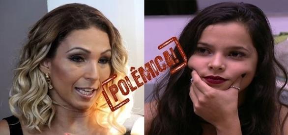 Cantora Valesca Popzuda (à esquerda) afirma que sua torcida por Emilly afastou alguns seguidores