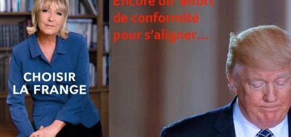Marine Le Pen, Trumpidolâtre, obligée, depuis l'Élysée, de se prononcer sur l'internement de Donald Trump ? Voulez-vous nous en priver ?