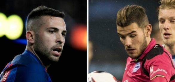 Jordi Alba y Theo Hernández, los jugadores que pretenden cambiarse F.C. Barcelona y Atlético de Madrid