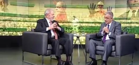 Lula em conversa com o jornalista Kennedy Alencar