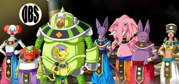dioses de los universos participantes en el torneo del poder