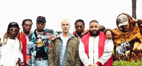 "DJ Khaled's new ""I'm The One"" music video and song are now online. [Image via Blasting News image library/stereogum.com]"