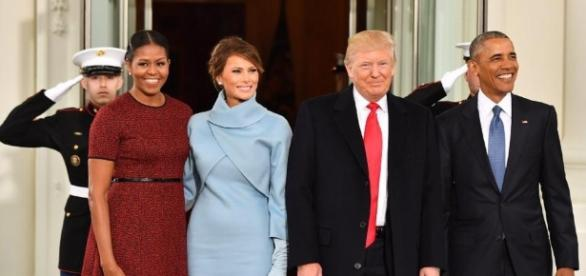 Evoking Jackie Kennedy, Melania Trump steps out in Ralph Lauren ... - latimes.com