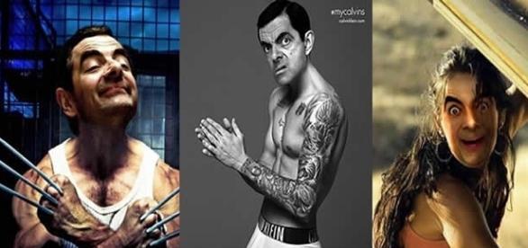 Mr. Bean aparece em fotos de famosos