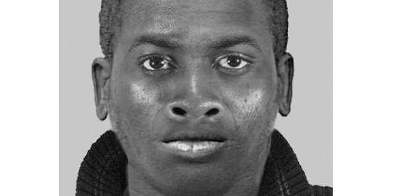 Phantombild der Polizei des gesuchten Tatverdächtigen