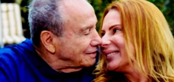 Stênio Garcia e a esposa - Imagem/Google