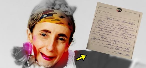 Atriz revela carta de Silvio Santos - Google