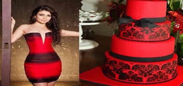Paula Fernandes usa roupas parecidas com bolos