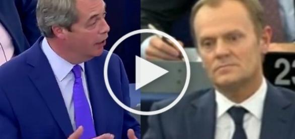 Nigel Farage wrócił i sponiewierał po całości Tuska i eurokratów!