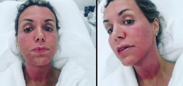 Sedada, a apresentadora Renata Banhara segue internada no Hospital Albert Einstein