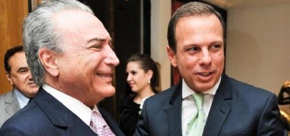 Temer em visita ao prefeito de São Paulo João Doria