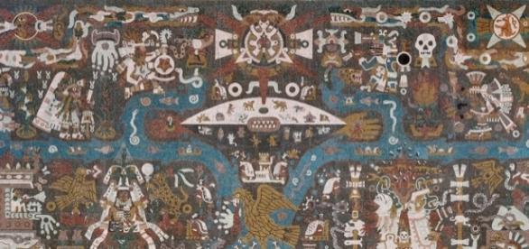 El muro norte del edificio hace referencia a la cultura y pasado prehispánico (Archivo: sitio web oficial de la Biblioteca Central, UNAM)