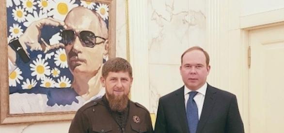 Kadirov et Poutine en peinture (instagram Kadirov)