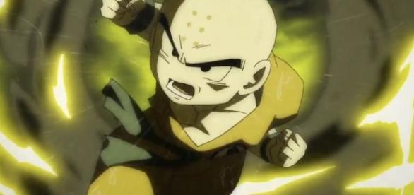 Krilin enfrenta a Goku y Gohan en el episodio 84