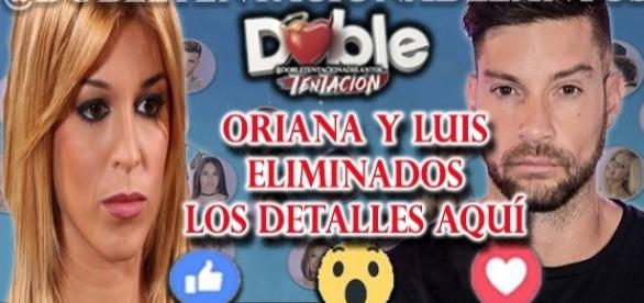 Oriana eliminada del reality Doble Tentación